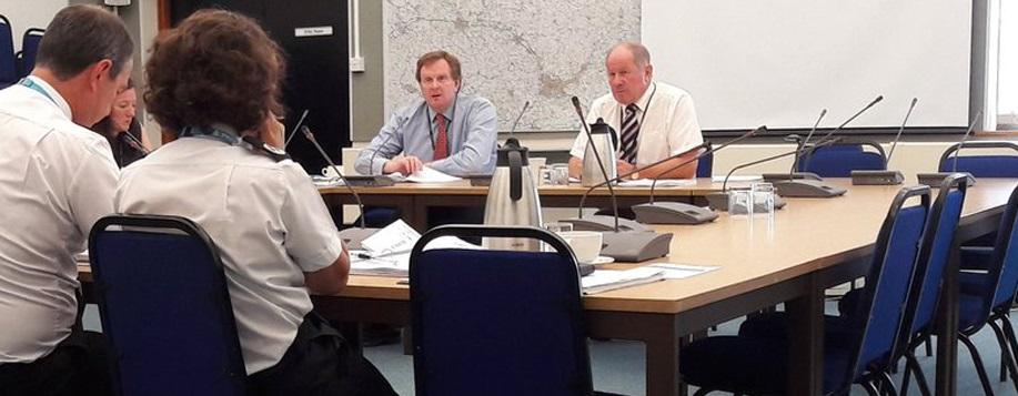 PCC sitting with Chief Constable at the accountability meeting