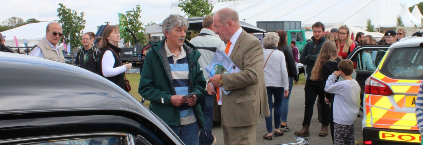 PCC talking to member of the public at the SuffolkShow